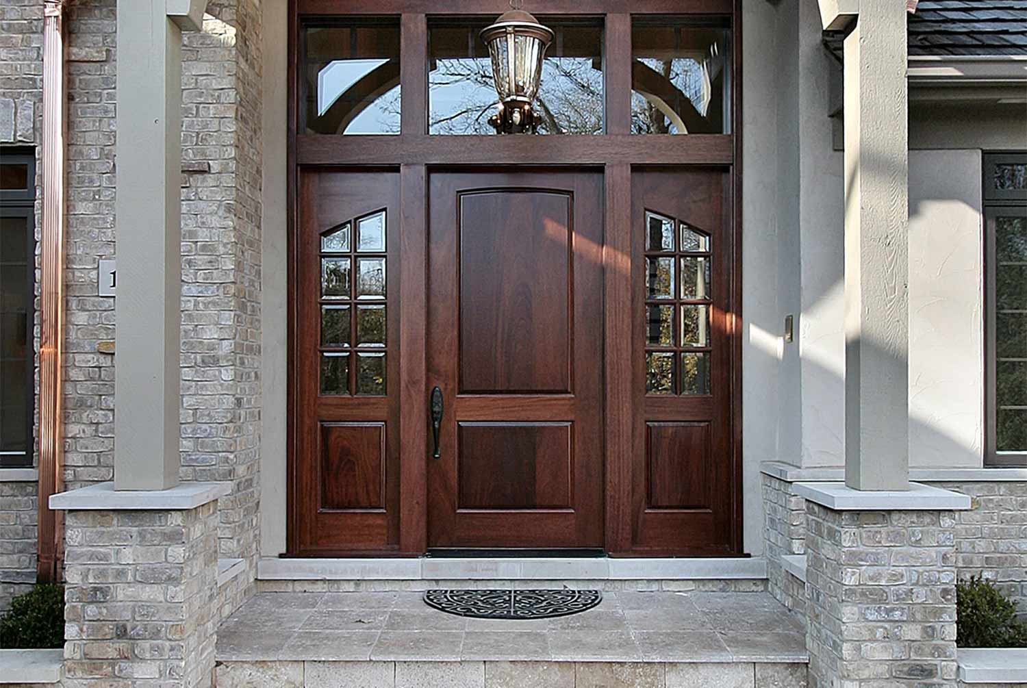 Entryway doors fiber classic entry door by window world for Custom front doors