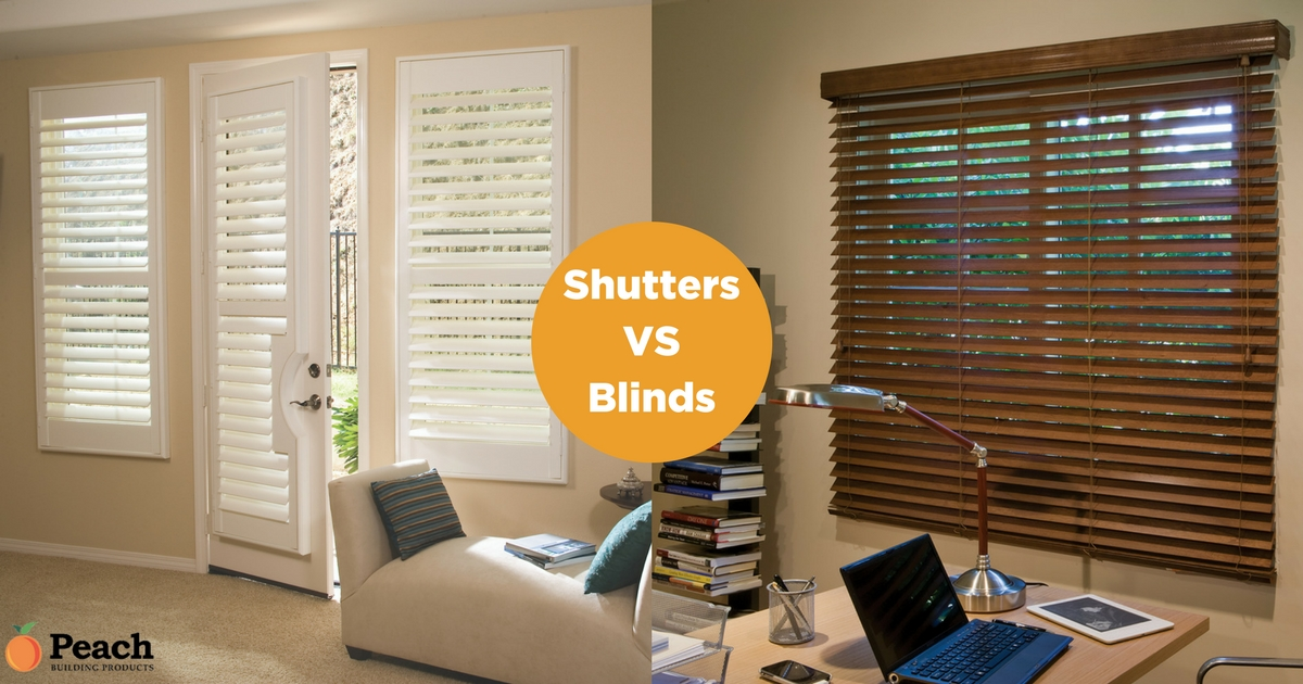Shutters vs Blinds in Utah - Peach Building Products