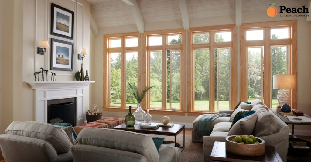 Living Room - Wood Windows Energy in Utah - Peach Building Products